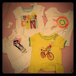 4 New Girls 18-22 Months Shirts